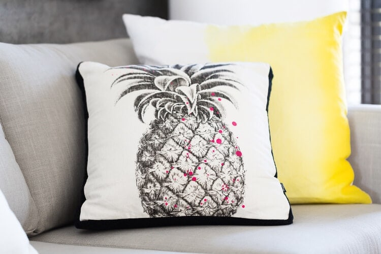 Pineapple cushion cover - Metricon Resort Lookbook Theme