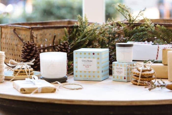 Red Spiced Pear Circa Home Christmas Candle Collection