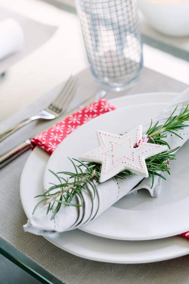 Scandinavian Christmas Ideas Table Setting Ideas on The Life Creative Blog