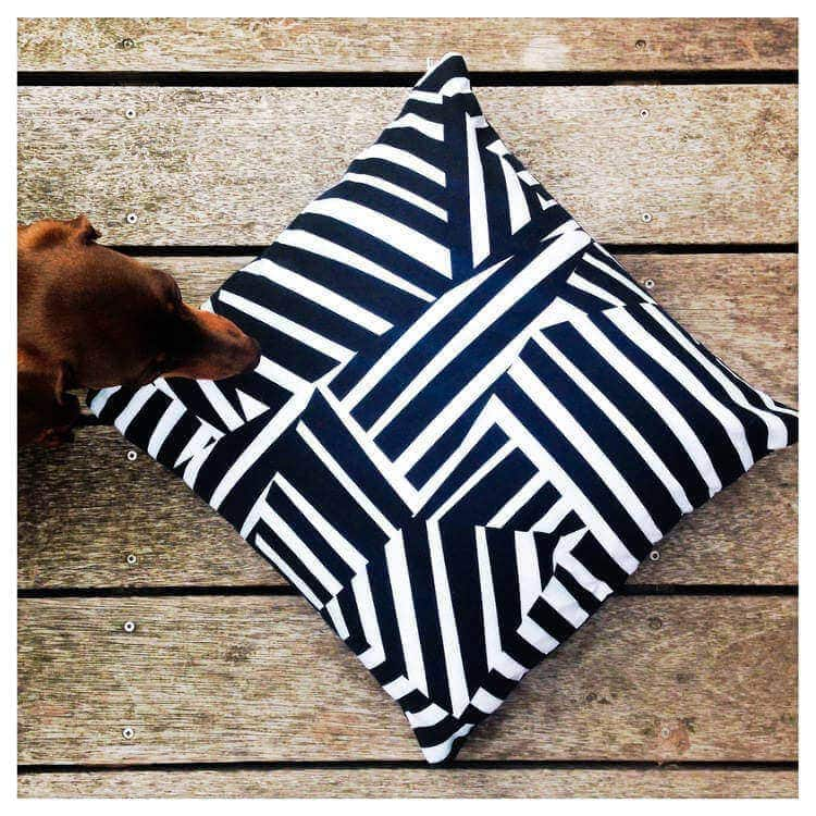 Yin and Yarn Zebra Cushion in The Life Creative Shop