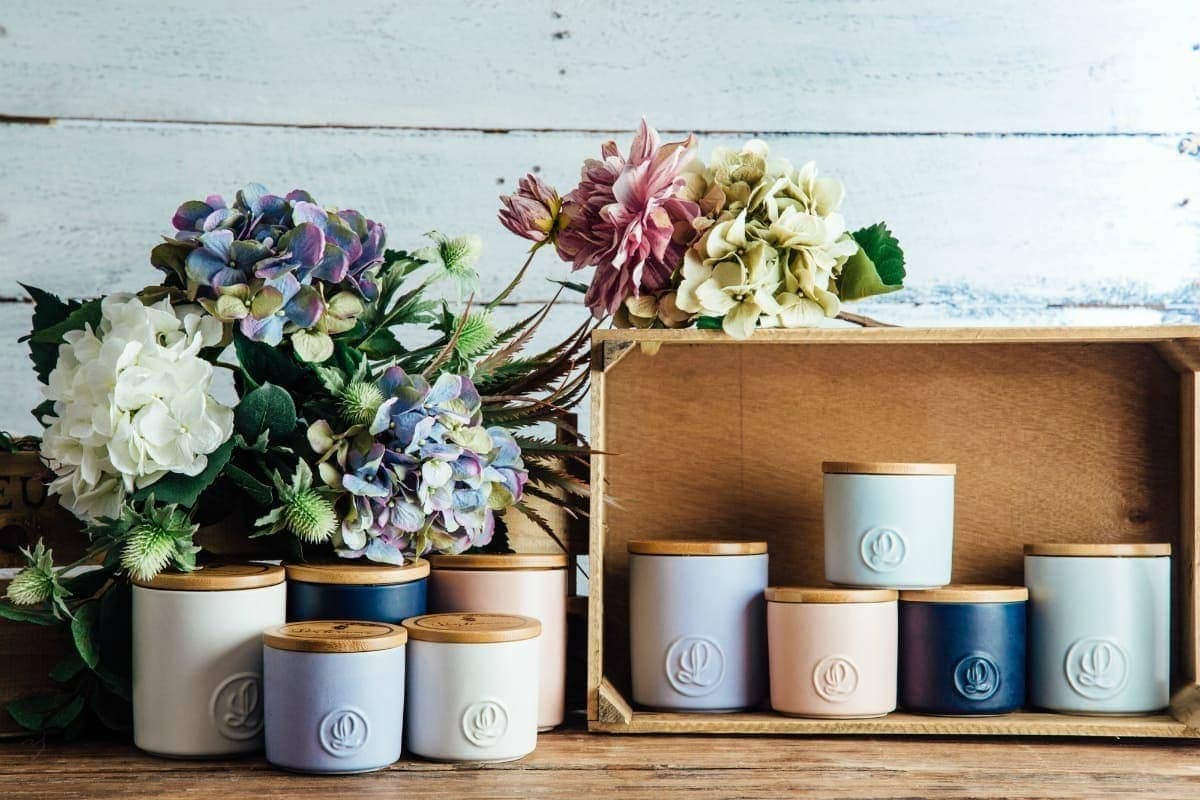 scented candles from lantern cove home