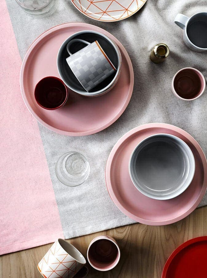 Aura Home Pink Plates and Tableware in Rose Quartz
