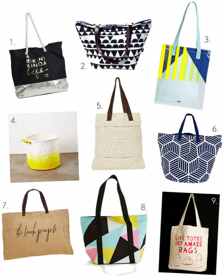 Beach Bags and Tote Bags on The Life Creative Blog