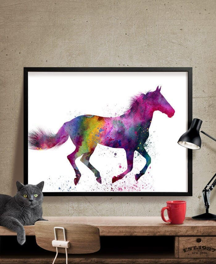 Horse Print by Fine Art Centre on The Life Creative