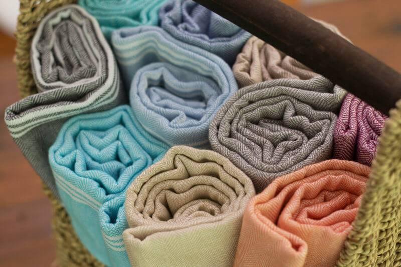 Peshtemal Turkish Towels by Aegean Loom in TLC Interiors Shop