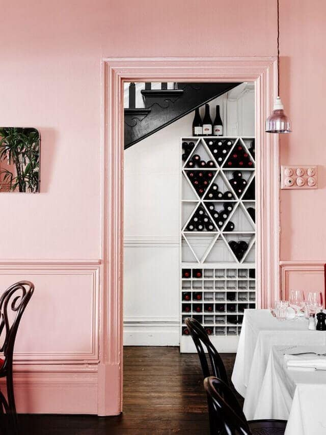 Pink dining room rose quartz pantone colour of the year 2016