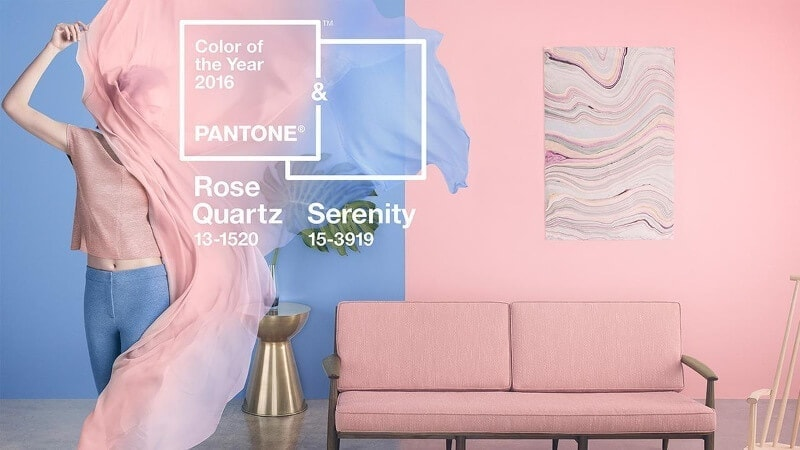 Rose Quartz and Serenity Pantone Colour of the Year 2016