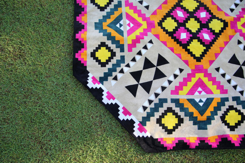 Bongani Octagonal Beach Towel by Cultured Me on The Life Creative