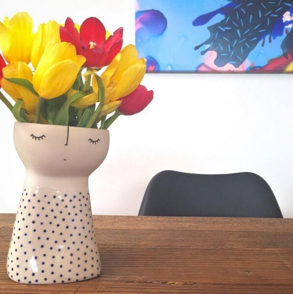 Ceramic Face Vase on The Life Creative