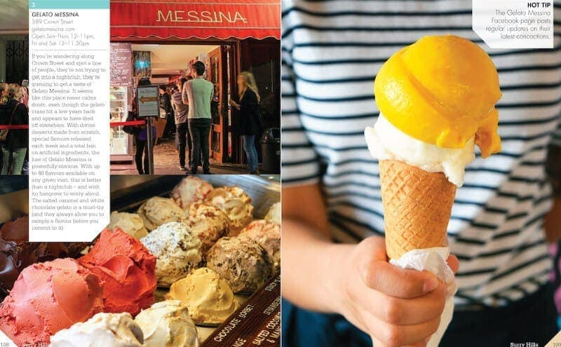 Gelato Messina Surry Hills Sydney Precincts book by Chris Carroll