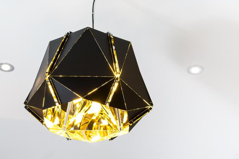 High Street Style Black and Gold Pendant Light Metricon Homes