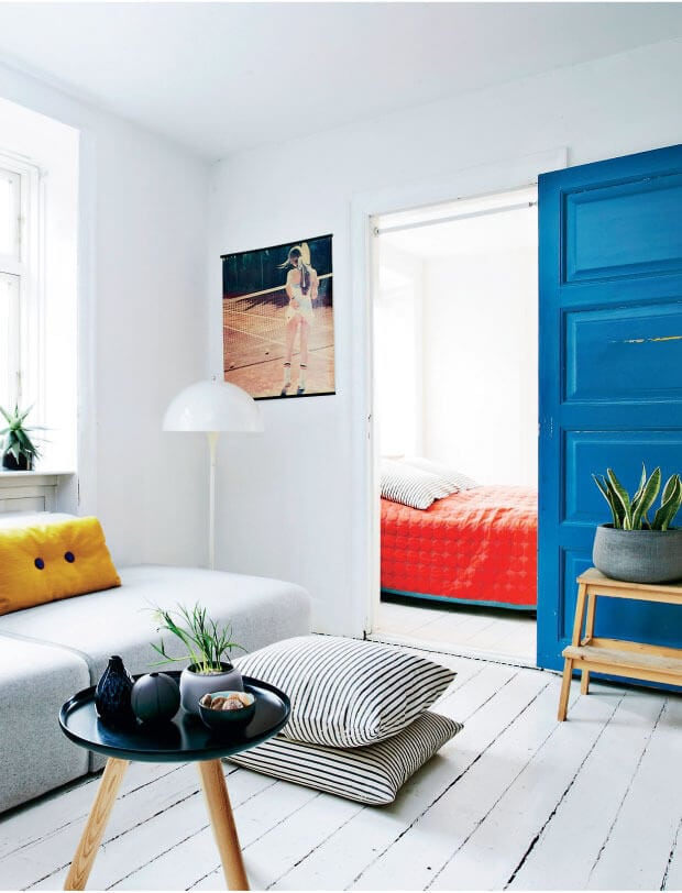 Interior trends 2016 primary colour living room red blue and yellow interior