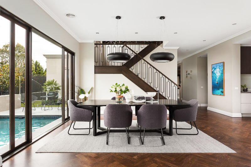 Monochrome dining room ideas Metricon Homes High Street Style