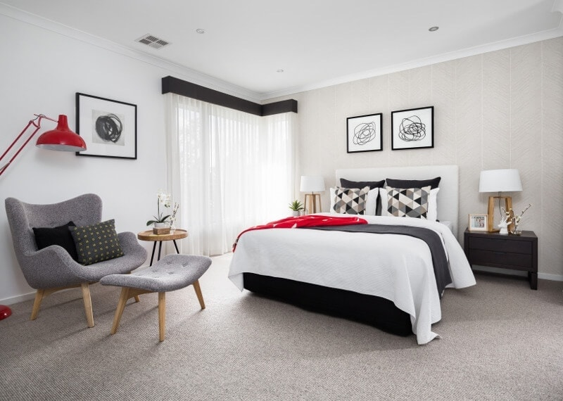 Red Bedroom Design Ideas Red and black bedroom colours on TLC Interiors