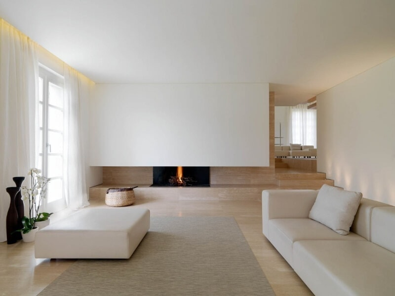 interior design trends 2016 minimal beige living room with fireplace