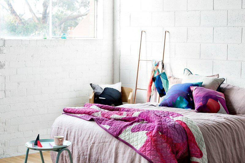 Colourful Bedding by Squeak Design on TLC Interiors