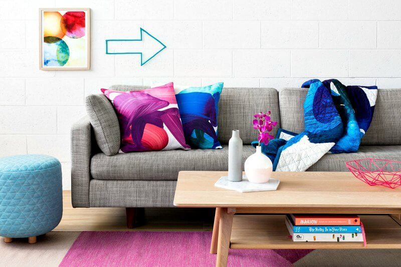 Colourful Designer Cushion Covers by Squeak Design in The Life Creative Shop