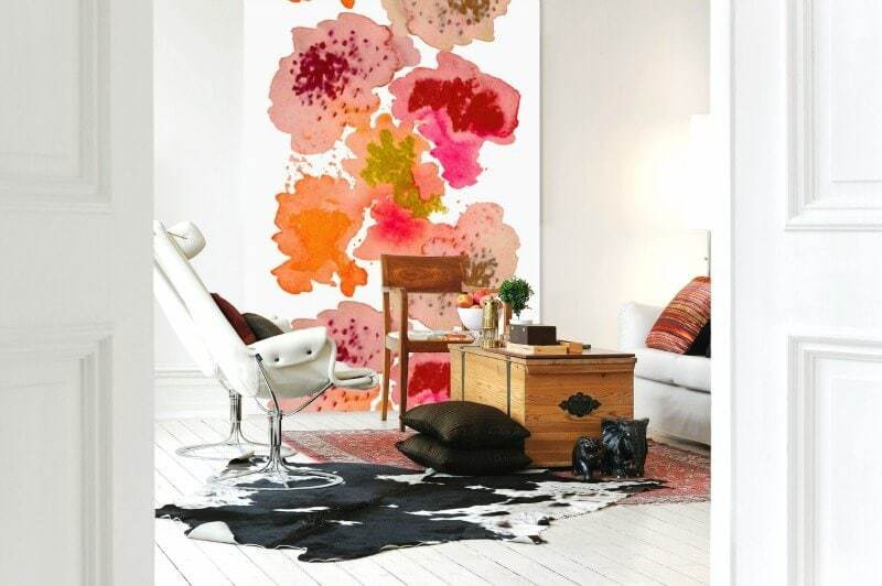 Fabric feature wall ideas from Alex and Ella on The Life Creative