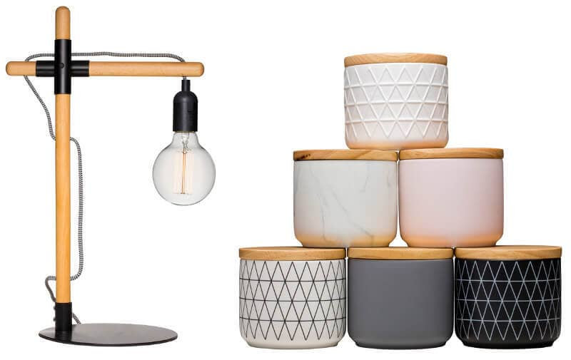 Kmart homewares 2016 table lamp and canisters