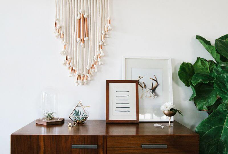 Macrame wall hanging on The Life Creative Blog