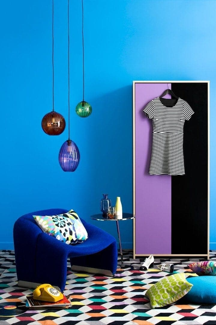 Painting Tips Blue Feature wall by Haymes Paint on The Life Creative