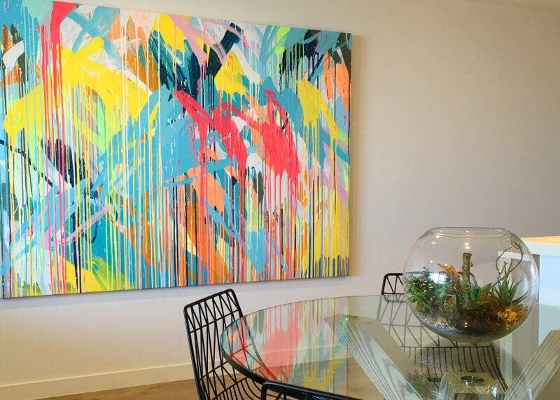 Rowena Martinich Artwork on The LIfe Creative Home Tour
