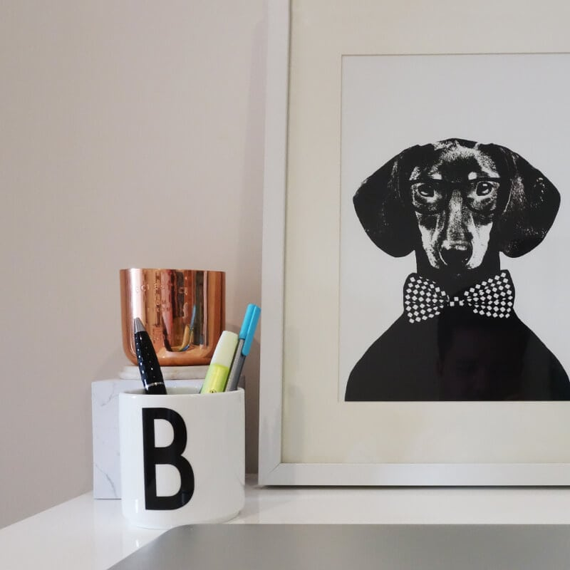Study Nook Ideas on The LIfe Creative Dog Print
