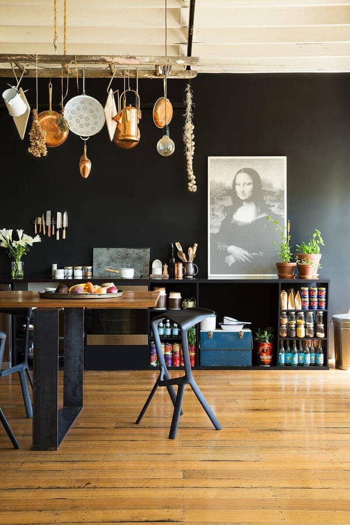 Vintage Furniture Vintage Kitchen ideas black kitchen wall The Life Creative
