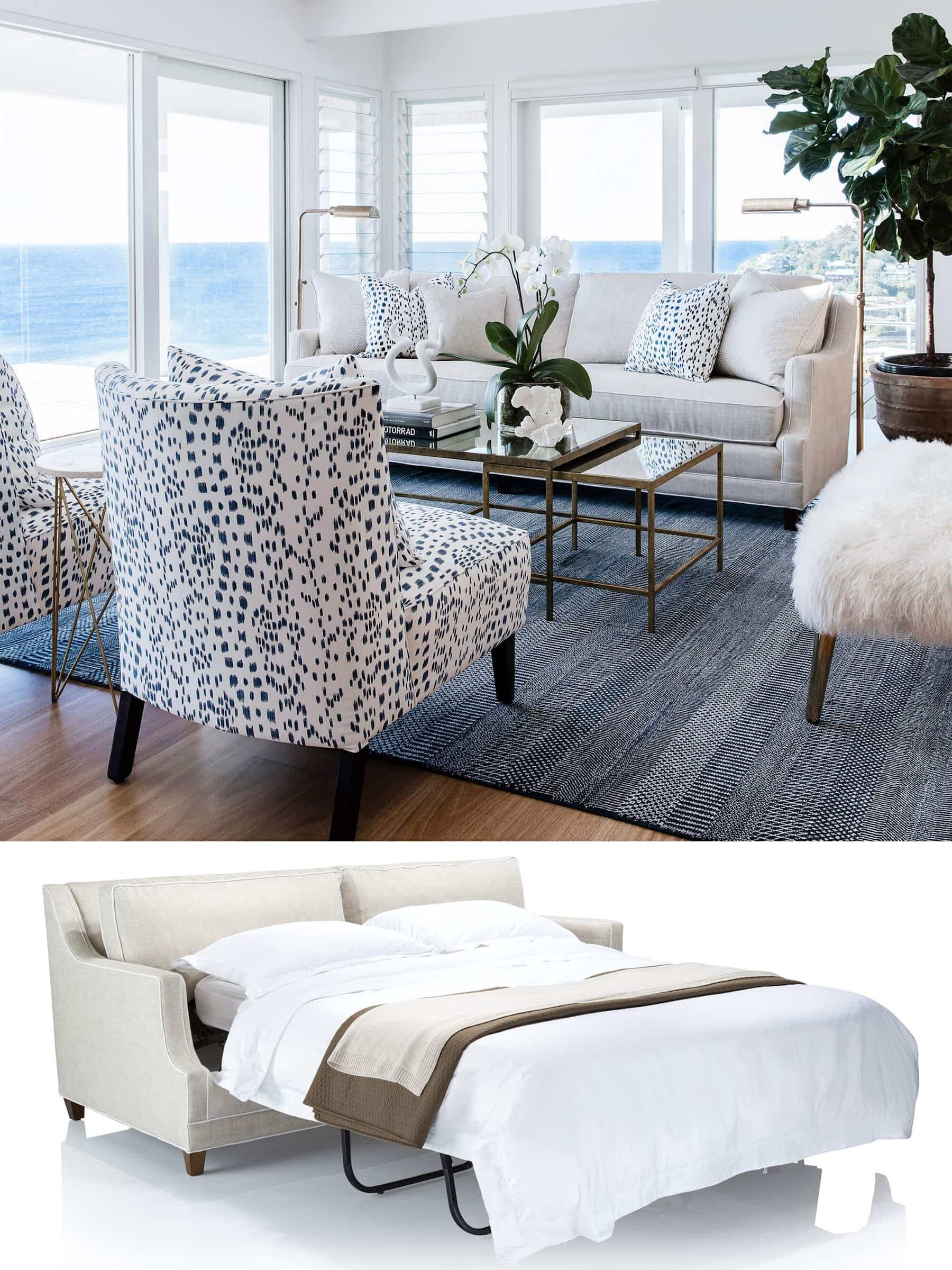 coco republic ashley sofa bed white hamptons sode bed in luxe living room