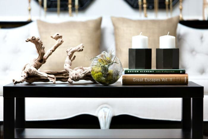 coffee table vignette styling ideas on TLC Interiors