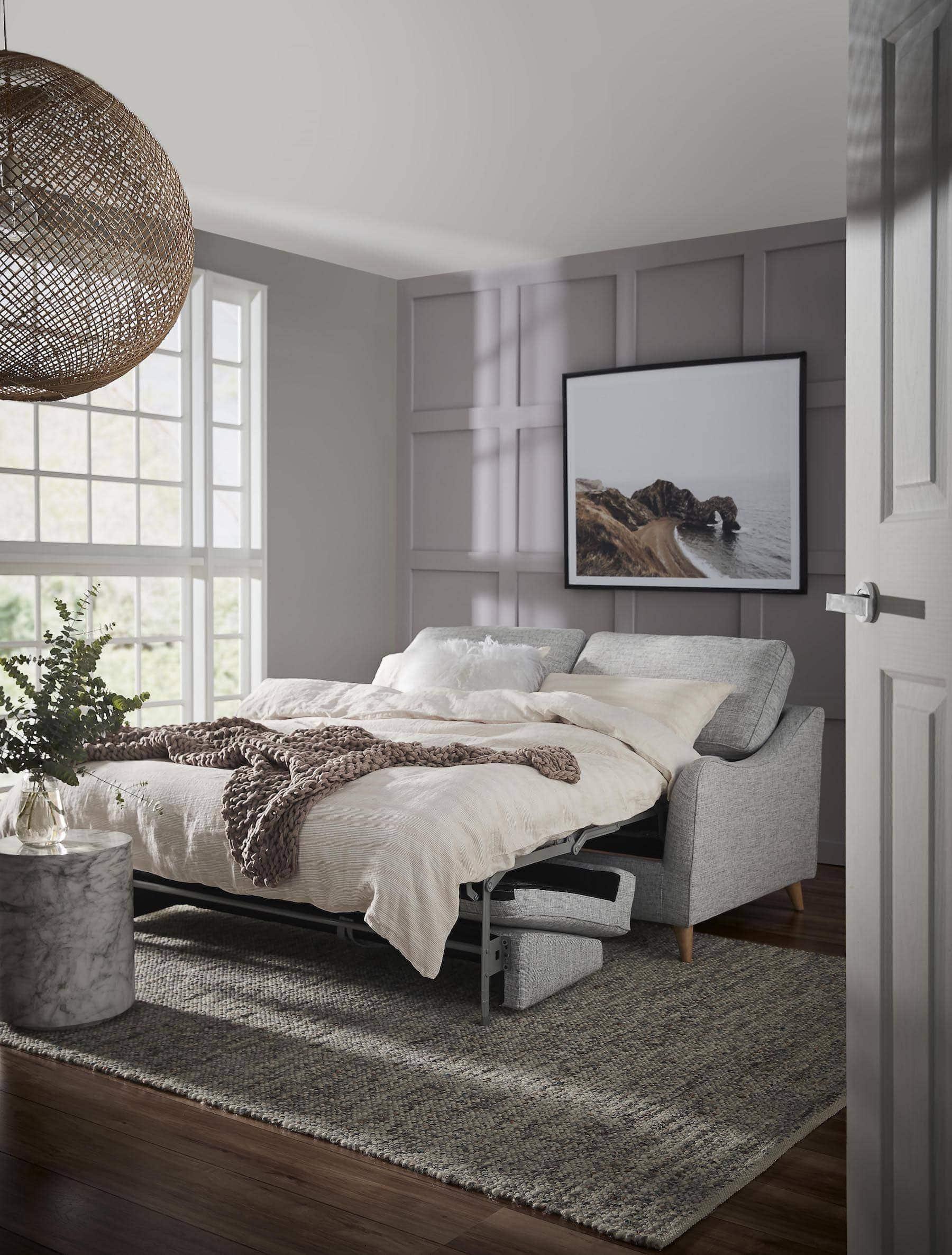 freedom maddox sofa bed review light grey mid century sofa bed