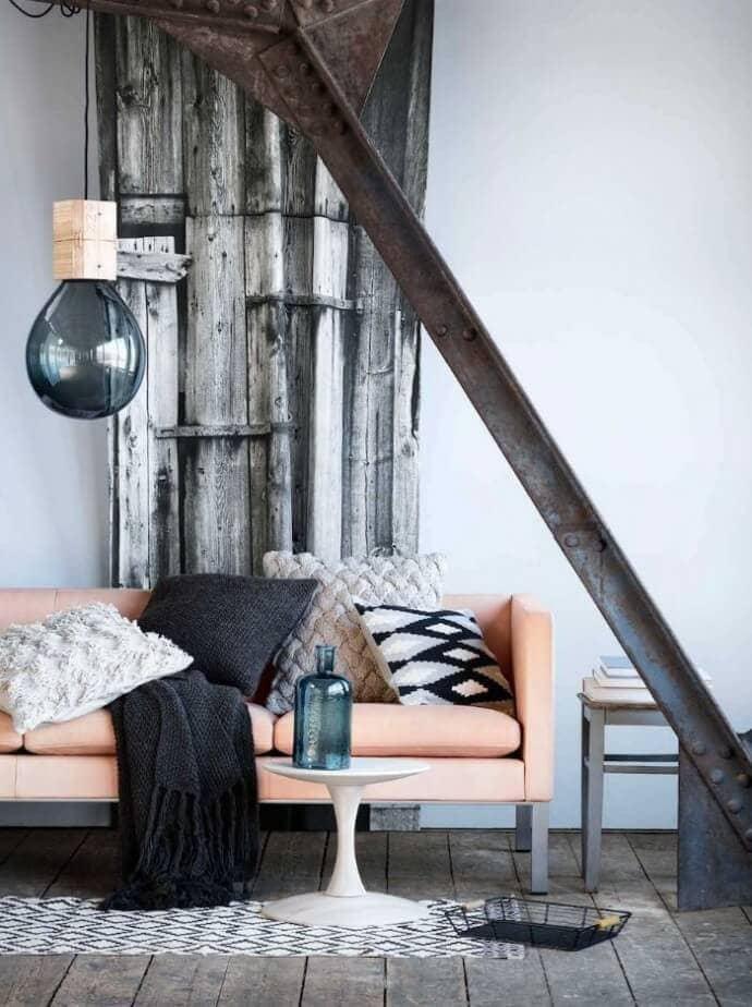 Autumn decorating rustic living room industrial design ideas