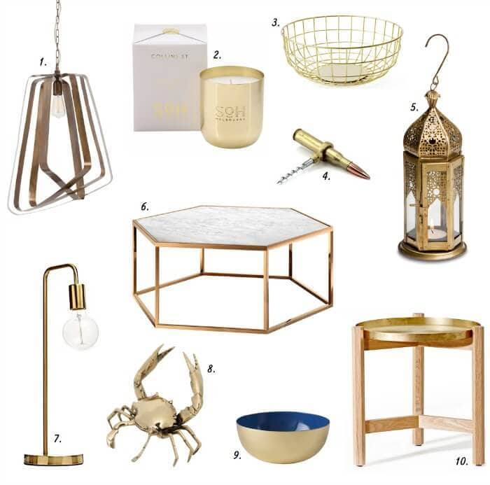 Brass decor and brass decorating brass homewares The Life Creative