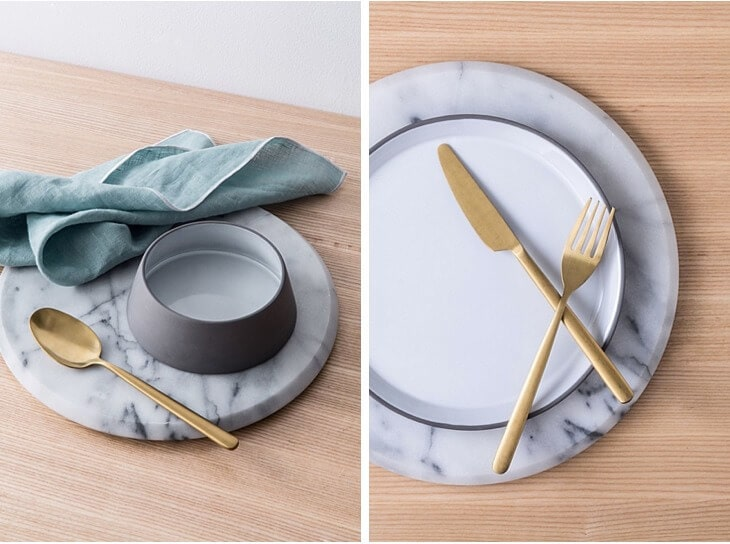 Country Road Home marble and gold dinnerware The Life Creative