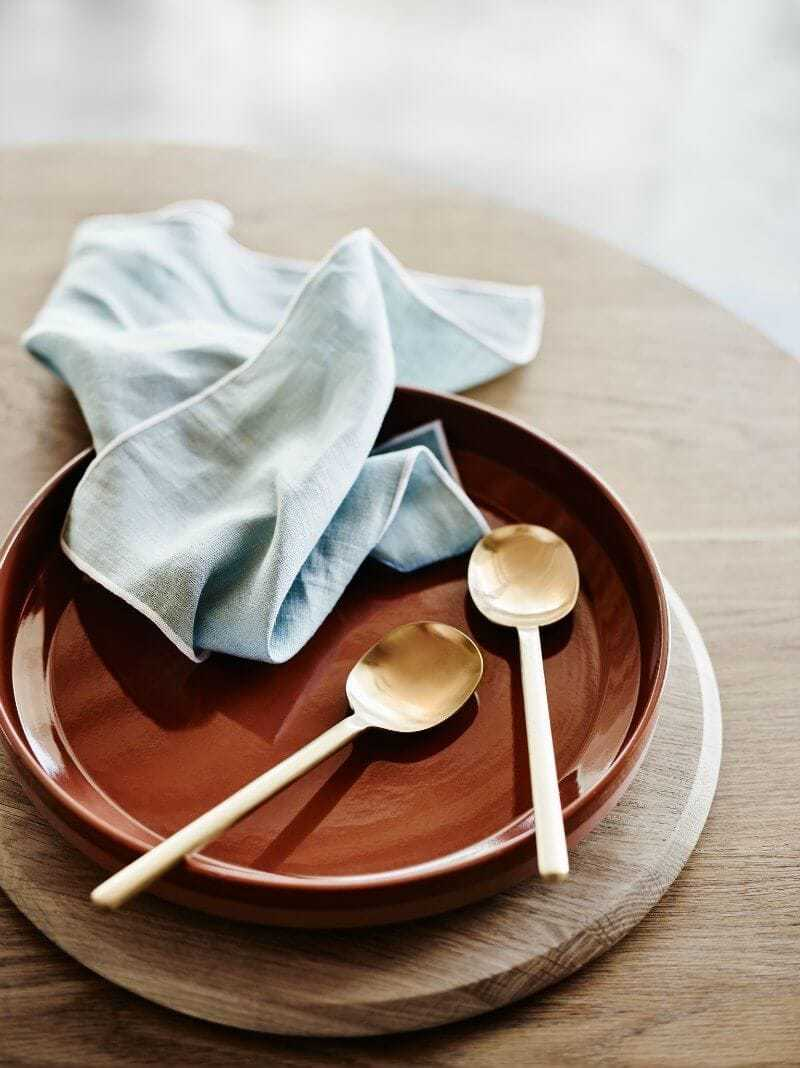 Country Road Home terracotta plate and brass servers The Life Creative