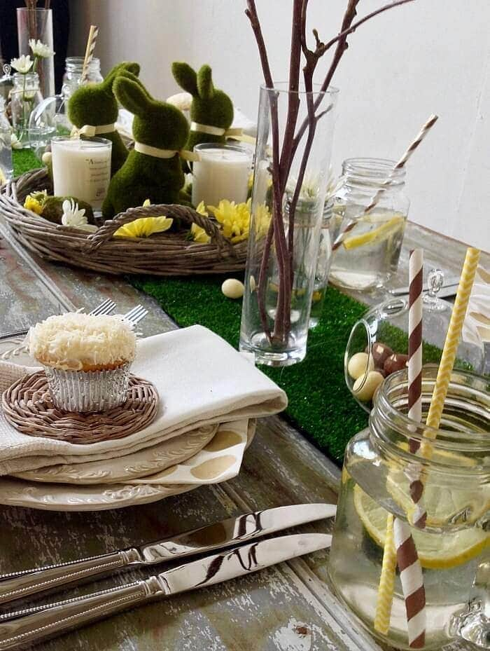 Easter Ideas Easter woodlands themed table setting The Life Creative