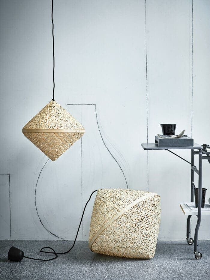 IKEA Australia The Life Creative IKEA VIKTIGT woven pendant lights