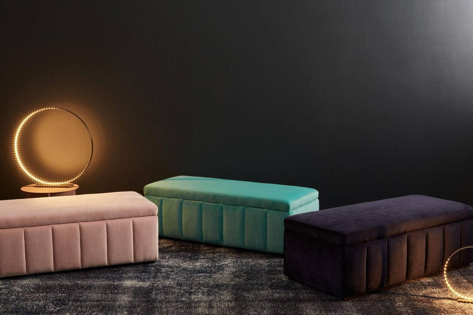 Incy Interiors Velvet range velvet ottoman The Life Creative