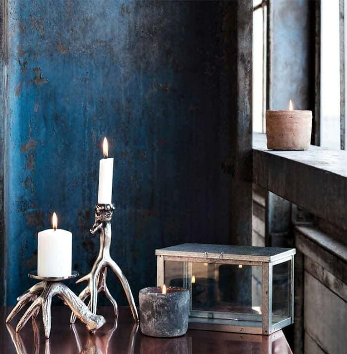 Rustic candelabra and candles Autumn decorating ideas on The Life Creative