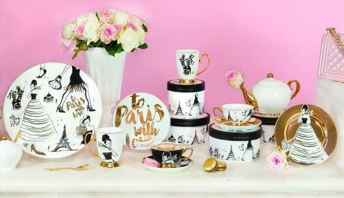 The Life Creative Christina Re To Paris with Love high tea range