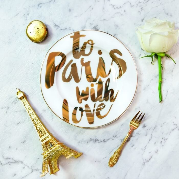 To Paris with Love plate from Christina Re The Life Creative