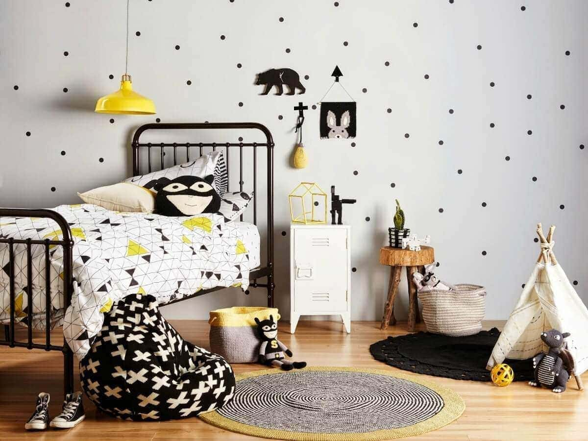 How to rock a monochrome kids room for Black and white kids room