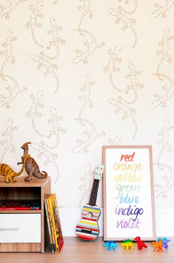 Gecko wallpaper for kids rooms from Porters Paints The Life Creative