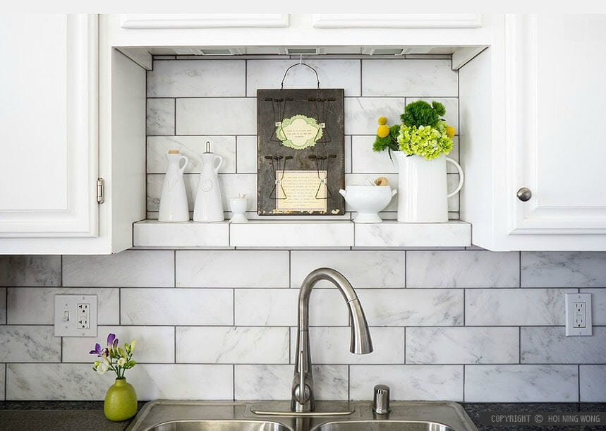 Marble subway tiles kitchen tiles splashback tiles TLC Interiors