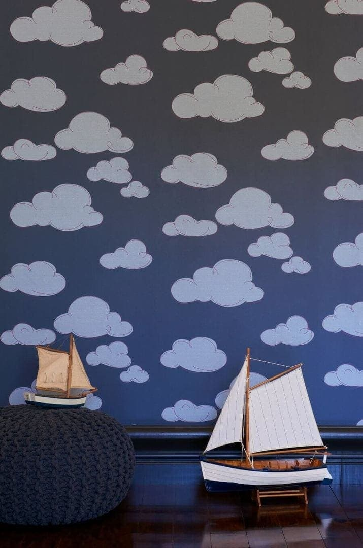 Porters Paints cloud wallpaper for kids rooms The Life Creative