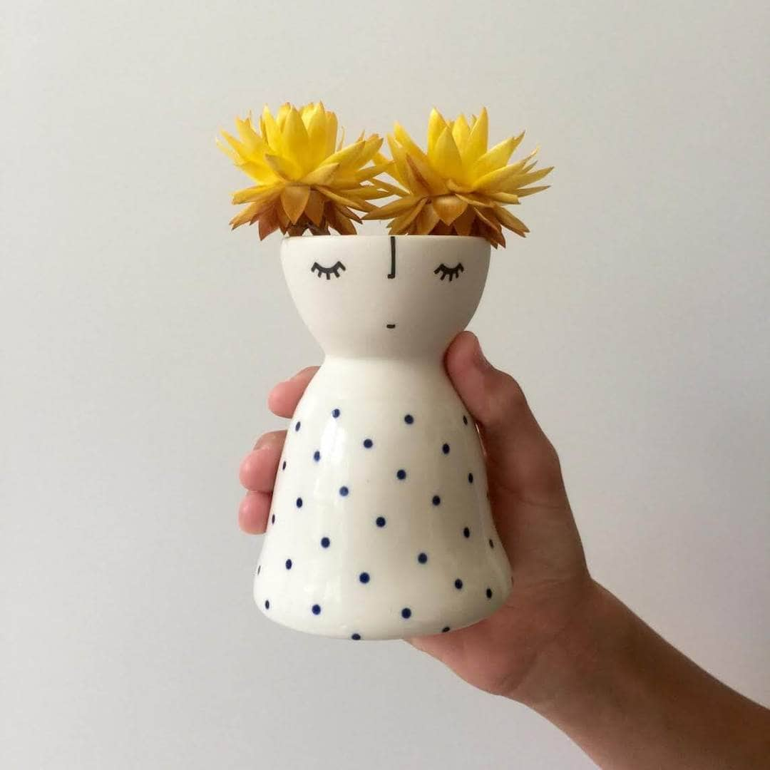 Vanessa Bean Shop Ceramic face vase on TLC Interiors