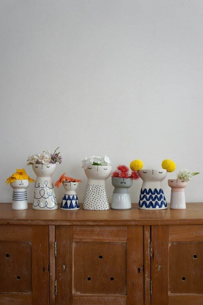 Vanessa Bean Shop ceramic vases on TLC Interiors