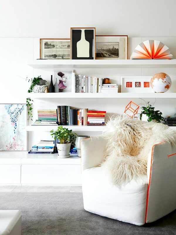 white floating shelves shelf styling ideas The Life Creative