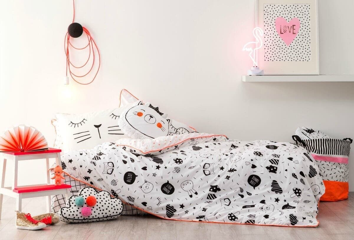 Cotton On Kids winter 2016 cat and bunny bedding