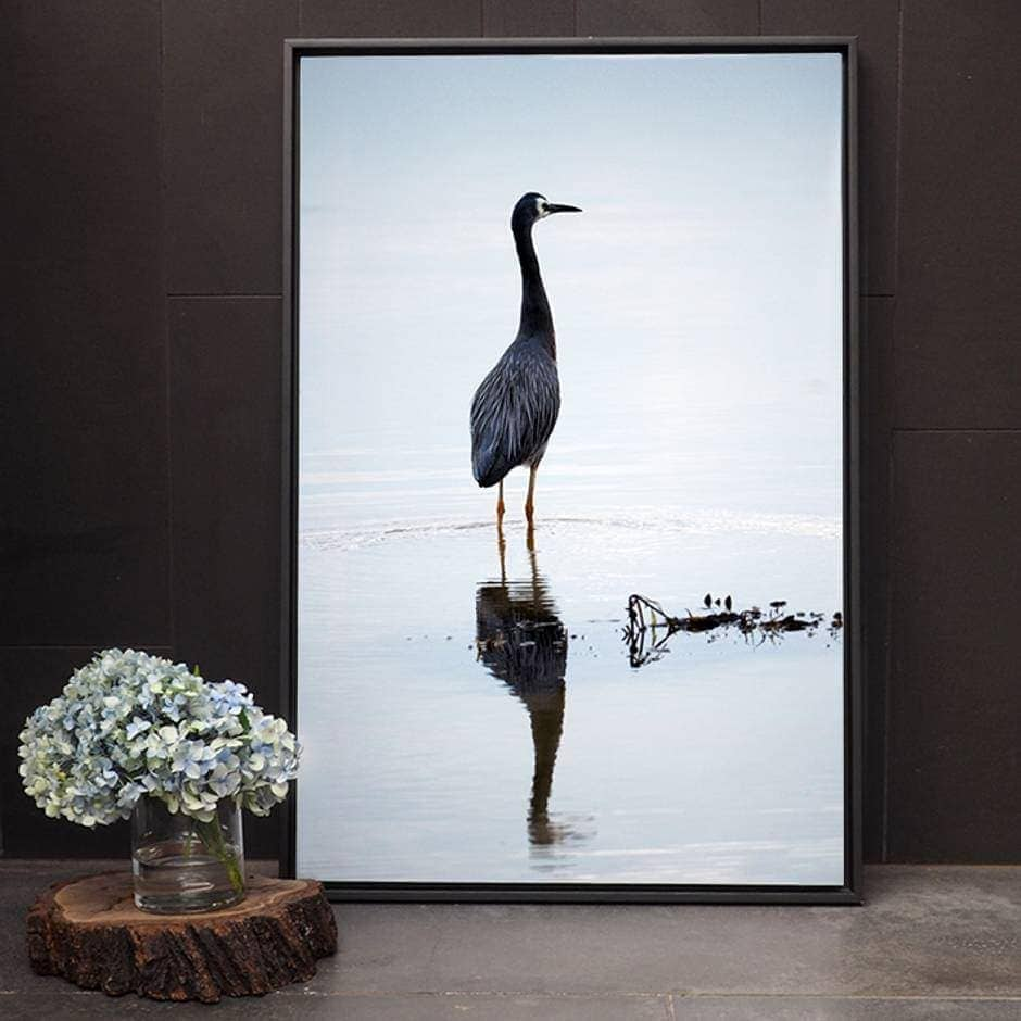 Crane bird photography by Amelia Anderson on TLC Interiors